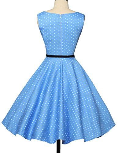 1950er retro kleid audrey hepburn kleid polka dots rockabilly kleid vintage kleid Größe XS CL6086-1 - 2