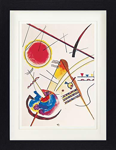 1925 Poster (1art1 113948 Wassily Kandinsky - Aquarell Aus Dem Gästebuch Hess, 1925 Gerahmtes Poster Für Fans Und Sammler 40 x 30 cm)