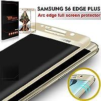 "Samsung Galaxy S6 Edge Plus Protector de Pantalla, TEFOMATE® Vidrio Templado Protector de Pantalla Completa Tempered Glass Full Screen Protector para Samsung Galaxy S6 Edge Plus 5.7"" [Curvado 3D] [Gold]"