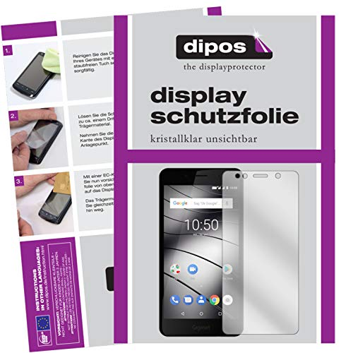 dipos I 2X Schutzfolie klar passend für Gigaset GS180 Folie Bildschirmschutzfolie