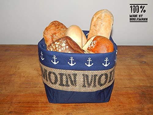 Brötchenkörbchen/Brotkorb Moin Moin aus Kaffeesack für 5-6 Brötchen -