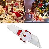 Serviettenringe, 12 Stück, Weihnachtsmotiv, Vlies-Serviettenhalter, niedliches Geschirr, Bankett, Abendessen, Weihnachtsdekoration für Zuhause