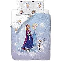 Disney Frozen Friends - Funda nórdica de 3 piezas para cama de 90 cm
