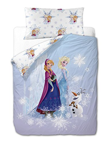 Disney Frozen Friends - Funda nórdica de 3 piezas para cama de...