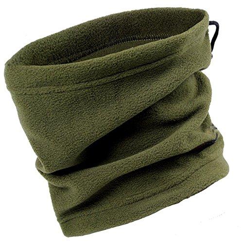Polar-fleece-einsätze (Wear Unisex multifunktionalen Polar-Fleece Halstuch wärmer für im freien Arbeit Sport Ski Mask (Green))