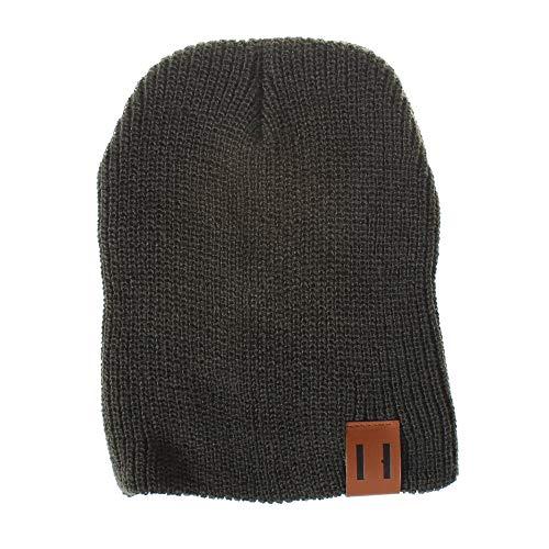 XXYsm Unisex Baby Mütze Beanie Stricken Jungen Mädchen Gestrickte Woolen Kopfbedeckung Einfarbig Hut Grün - Hut Stricken Jordan