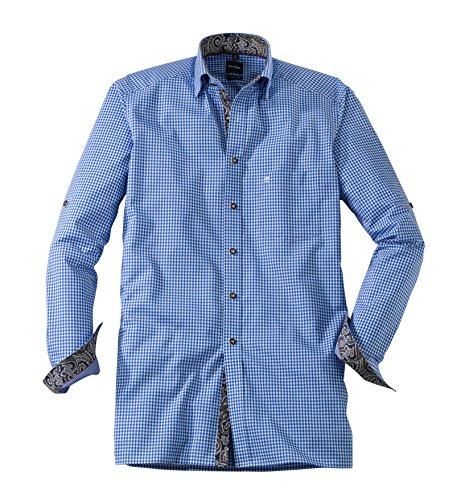 Olymp Hemd Trachtenhemd Modern Fit blau/weiss, Kariert blau/weiss