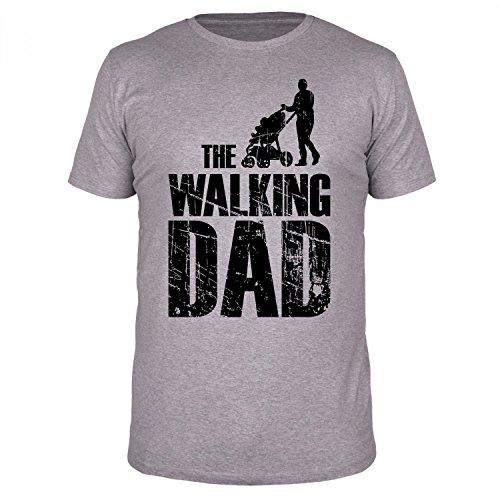 FABTEE The Walking Dad - Herren T-Shirt - Verschiedene Farben und Größen S-4XL, Größe:L, Farbe:Grau Meliert