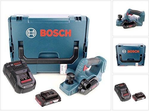 Bosch GHO 18 V-Li Professional Akku Hobel in L-Boxx mit GAL 1880 CV Schnellladegerät und 1x GBA 2 Ah Akku