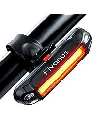 Eclairage Arrière Vélo, BIGO Lumière Arrière Feu Arrière Vélo USB Rechargeable COB LED Lampe de vélo Arrière, 4/6 Modes d'éclairage, 50m Distance Irradiation, Antichoc Impermeable