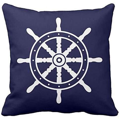 Eight-Spoke Ship's Wheel Throw pillow case cover 20*20 - Multi Spoke Wheel