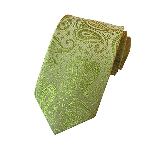 Yellow Silk Bow Tie (Z-P Mens Eagle Luxury Elegant Yellow Necktie Woven Skinny Microfiber Tie)