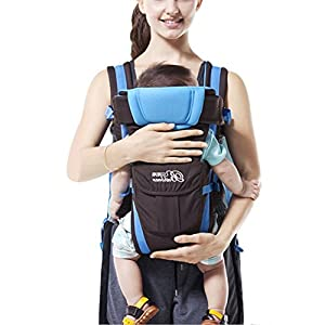 GudeHome Baby Carrier 4 Positions Backpack, Front Facing, Kangaroo & Sling Lightweight Infant Carrier SONARIN Applicable age and Weight:0-36 months of baby, the maximum load: 36KG, and adjustable the waist size can be up to 45.3 inches (about 115cm). Material:designers carefully selected soft and delicate 100% cotton fabric. Resistant to wash, do not fade, External use of 3D breathable mesh,15mm soft cushion,to the baby comfortable and safe experience. 30mm sponge filled, effectively relieve mother's abdominal pressure. Description:patented design of the auxiliary spine micro-C structure and leg opening design, natural M-type sitting. Removable backplane, hold the baby back, perfect support horizontal hold.The baby carrier and the hipseat junction have a protective pad,intimate design, so that your baby more comfortable. 8