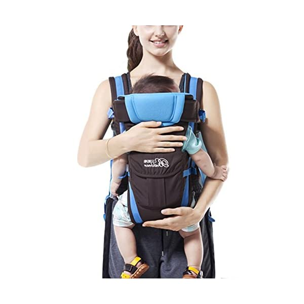 """GudeHome Baby Carrier 4 Positions Backpack, Front Facing, Kangaroo & Sling Lightweight Infant Carrier GudeHome COMFORT AND SECURITY - We know how important it is to you as the consumer to have a product that you can rely on and with peace of mind. That confidence you feel when you know your product was worth every penny! """"The proof is in the pudding"""" they say. Our double sling design provides extra security for baby and privacy while nursing. An adjustable shoulder belt and waist belt are made for safer carrying with a double-protection safety buckle eloquently designed just for your maximum comfort! EVERYTHING YOU EVER WANTED in a baby carrier can be found in flexible, lightweight, and ergonomic baby carrier. Our unique and comfortable carrier allows for FOUR safe carrying positions. The Backpack, Kangaroo, Front-Facing, & Sling positions can all be used based on your mood and comfort. This carrier provides plenty of back support. It sits on both shoulders to take stress off the back. No other baby carrier offers such a variety of positions and styles to carry your baby! QUALITY IS OUR PRIORITY - You may be thinking what separates this baby carrier from other brands that are made of cheap quality and initially seem fine, but soon after begin to fail. The baby carrier is made of top quality and premium material that is meant to last over a long-term period and designed to be the best and last brand of baby carrier you ever have to buy! 1"""
