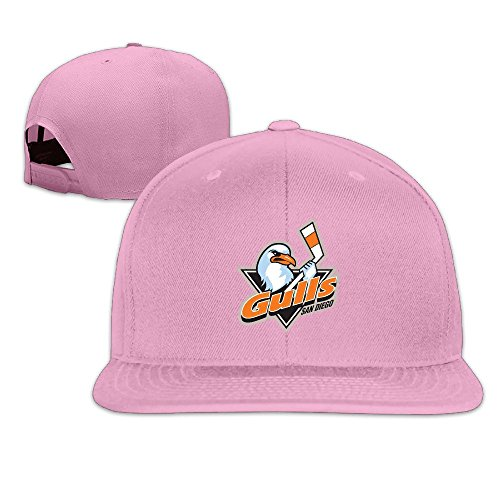 hittings-adult-san-diego-gulls-fantastic-snapback-adjustable-hats-pink