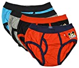#4: BODYCARE Pure Cotton Multi-Coloured Brief for Boys & Kids (307-Packof4)