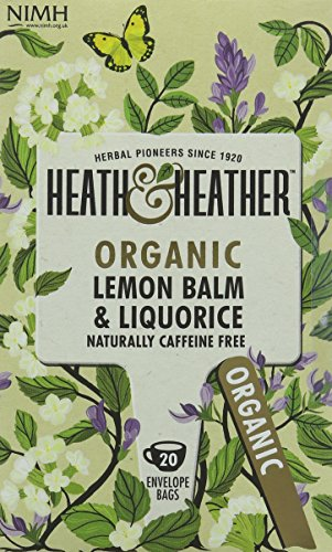 A photograph of Heath & Heather organic lemon and ginger