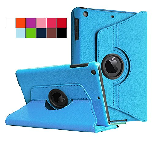 COOVY® Cover für Apple iPad mini 1 / 2 / 3 ROTATION 360° SMART HÜLLE TASCHE ETUI CASE SCHUTZ STÄNDER   Farbe hellblau