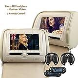 Écran Eincar 2X 7 Pouces Twins HD Digital Car Headrest Lecteur DVD USB SD Port avec...