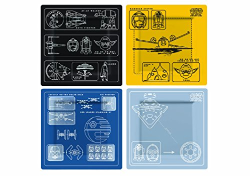 Star Wars Rogue One SW02609 Lot de 4 Assiettes Mélamine Multicolore
