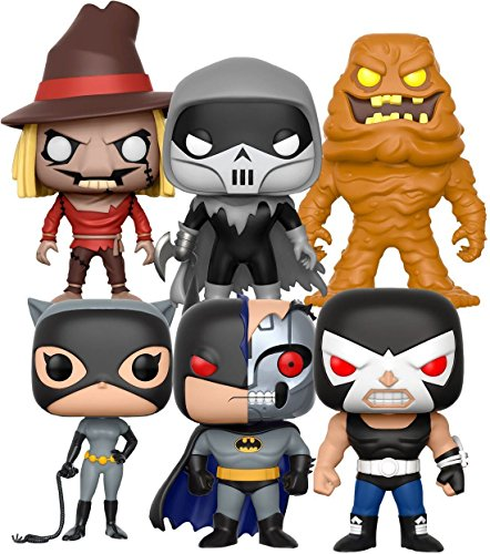 Funko POP! Batman The Animated Series 6 Pack: Clayface + Bane + Batman (Robot) + Catwoman + Scarecrow + Phantasm - Vinyl Figure Set NEW