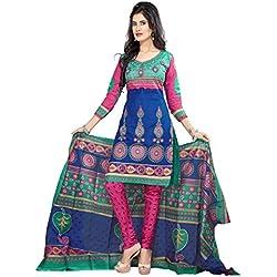 Florence Women's Dress Material (SB-1233-Nov_Blue_Freesize)