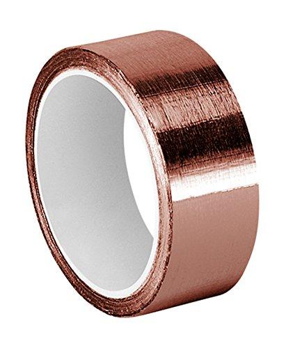TapeCase 1-6-1125 - Cinta adhesiva de cobre con adhesivo acrílico, convertida de 3 m 1125, 6 yd. Largo, 2,5 cm de ancho, rollo