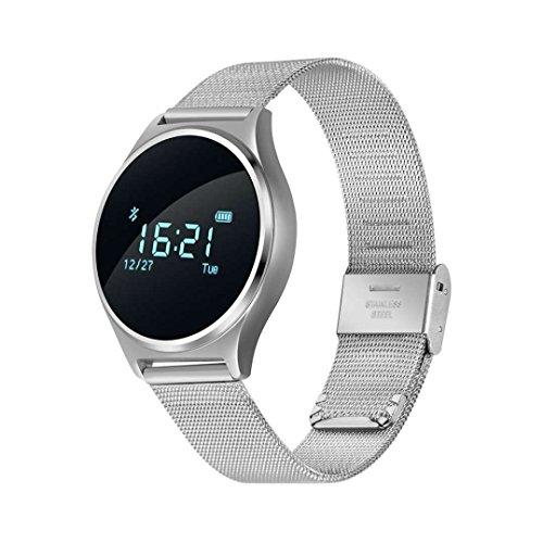 Smart Armband Schrittzähler Fitness Powerarmbänder,Real Time Elegant,Pulsmesser,kapazitiven Touchscreen,Pedometer,Sitzender Alarm,Smart uhr,kapazitiven Touchscreen,Eingebauter Herzfrequenzmesser
