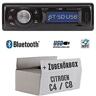 Citroen C4 C8 - Autoradio Radio Caliber RMD020BT - Bluetooth | MP3 | USB | Einbauzubehör - Einbauset