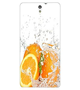 ColourCraft Orange Design Back Case Cover for SONY XPERIA C5 ULTRA DUAL