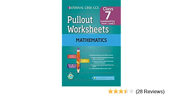Oswaal CBSE CCE Pull-out Worksheets Mathematics for Class 7: Amazon ...