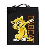 Dabbing Cat Dab Katze Kitty Kitten Cats Süß Liebe Herz - Schlichtes Und Witziges Design - Jutebeutel (mit langen Henkeln)
