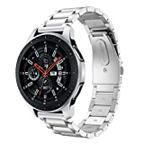 MBrisk Correa de reloj de liberación rápida de 20 mm, Reemplazo de acero inoxidable ajustable 22 mm Correas de pulsera de reloj inteligente para mujeres hombres