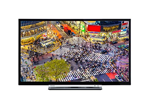 Toshiba 24D3753DB 24-Inch HD Ready DVD Smart TV with Freeview Play - Black (2017 Model) (Certified Refurbished)