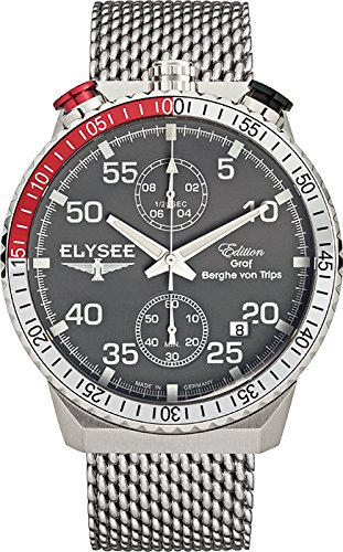 ELYSEE Men's 80516MG Graf Berghe von Trips Analog Display Quartz Black Watch