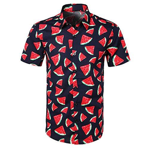 Surf Vintage Hawaii-art (Luckycat Funky Hawaiihemd | Herren | Kurzarm | Front-Tasche | Hawaii-Print | Strand Palmen Meer Funky Hawaiihemd | Herren | Kurzarm | Fronttasche | Hawaii-Print | Verschiedene Designs)