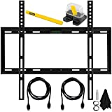 Deco Mount Slim Flat Wall Mount Kit Ultimate Bundle for 19-45 inch TV's Includes Mount w/ Built-in Leveler