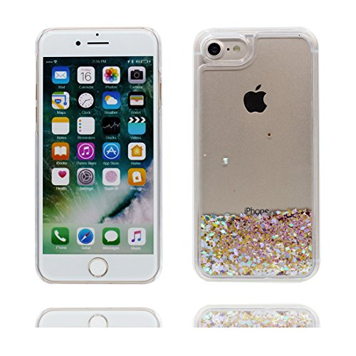 "iPhone 7 Plus Coque, Bling Glitter Flowing Funny Silicone Ultra Slim, Case iPhone 7 Plus Étui 5.5"", ( rose ) Shock Dust Resistant Shell iPhone 7 Plus Cover 5.5"" # 4"