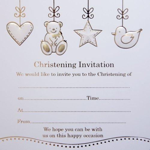 Jean Barrington Einladungen zur Taufe, Bär, Ente -