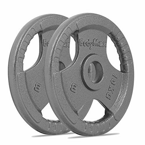 Bodymax Olympic Cast Iron Weight Plates - 2 x 10kg