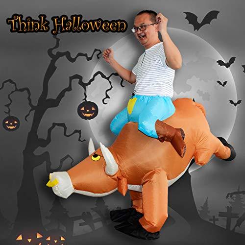 Dkings Rinder aufblasbare Kostüm, Halloween-Kostüm, Urlaub Tiere Blow up Kostüm für Erwachsene