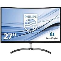 """Philips 278E8QJAB Freesync Gaming Monitor Curvo LED da 27"""", Full HD 1920 x 1080, Pannello VA, 4 ms, HDMI, Display Port, VGA, Casse Audio Integrate, Flicker Free, Sottile, Ultra Wide Color, Nero"""