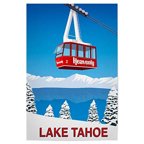 artboxONE Poster 120x80 cm Natur Lake Tahoe California - Bild Lake Tahoe Heavenly Heavenly ski Resort