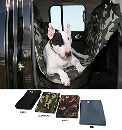hundeinfo24.de Autodecke – Autoschondecke für Hunde, Schonbezug für Auto, Hundedecke, Autoschutzdecke, Tierdecke 150 x 142cm in 4 verschiedenen Farben (schwarz)