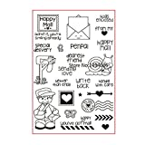 Happy Mail senden Love Special Delivery Scrapbook DIY Foto Karten Gummi Stempel Clear Stamp transparent Stempel 10 x 15 cm