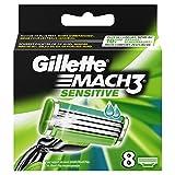Ancienne Version/Gillette Mach3 Sensitive Lames De Rasoir Pour Homme - 8Recharges