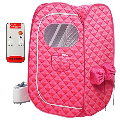 Tragbare Dampfsauna Zelt Box Fall Schnell Falten Zelt Sauna Spa Zubehör, Entgiftung Und Gewichtsverlust, 1000W / Doppel Person, Rot -
