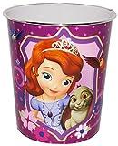 alles-meine.de GmbH Papierkorb -  Disney Sofia die Erste  - aus Kunststoff - Mülleimer Eimer - Aufbewahrungsbox für Kinder - Mädchen Auf einmal Prinzessin - Abfallbehälter Kind..