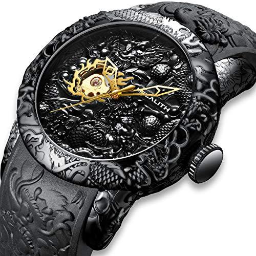 Relojes Hombre Reloj Automatico de Hombre Mecanicos Militar Deportes Impermeable Esqueleto Diseño Relojes...