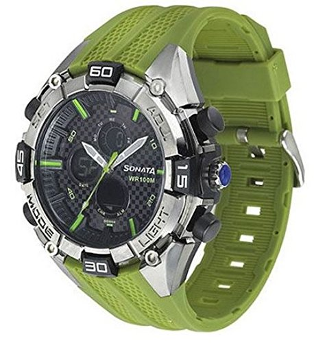 Sonata Ocean Series III Analog Multi-Color Dial Men's Watch - 77028PP02J image